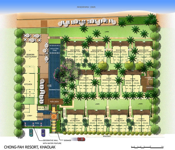 Chongfah Resort Khao Lak - Master Plan
